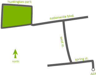 Map to Huntington Park